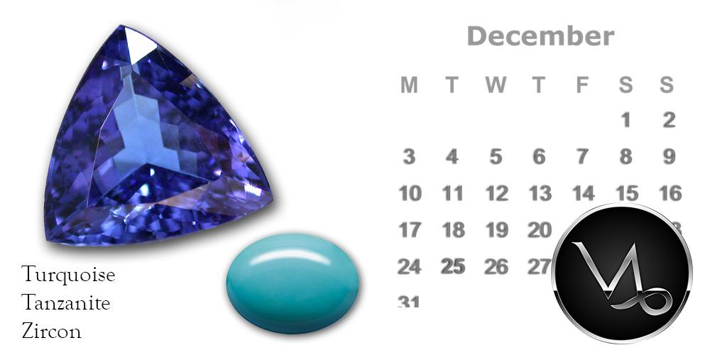 December Month Birthstone