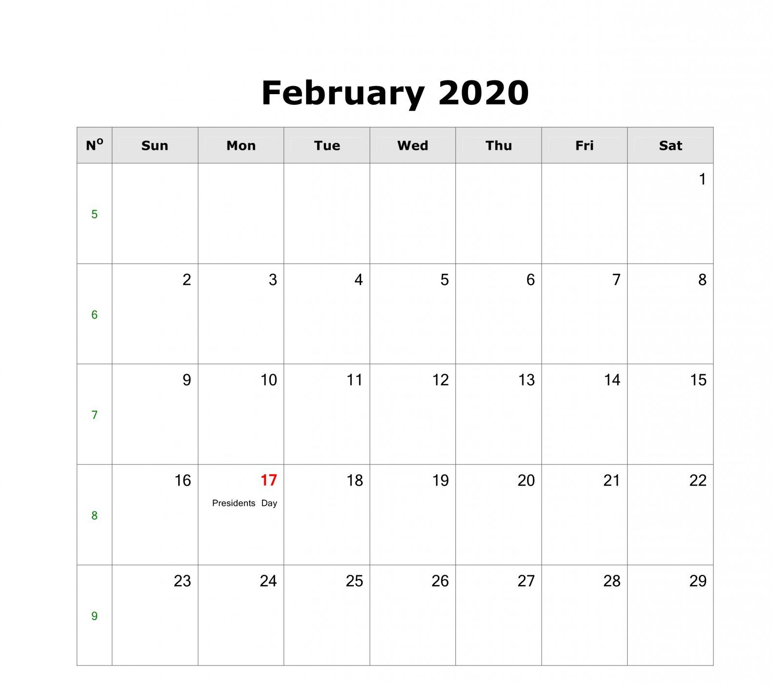 Holidays For February 2020 Month