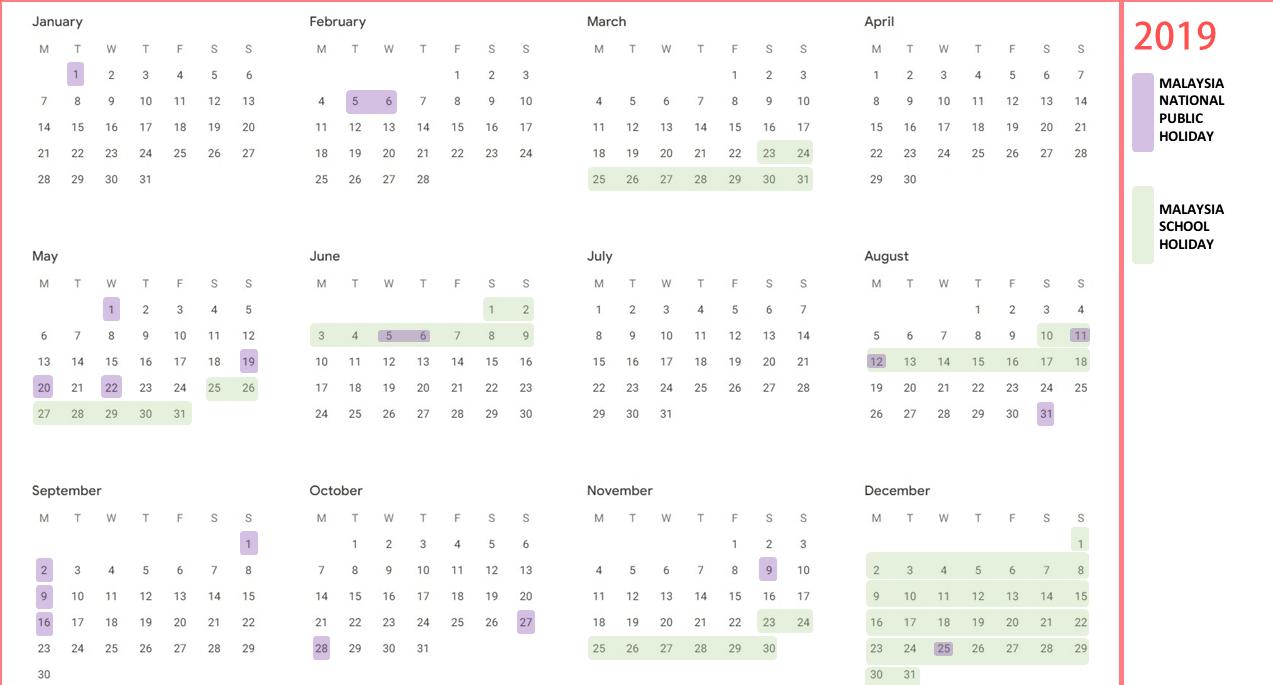 calendar december 2019 malaysia