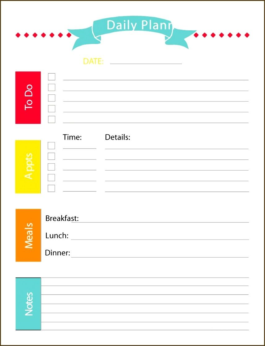 Daily Planner Template for Students