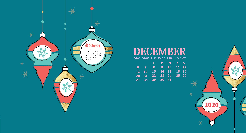 December 2020 Calendar Wallpaper For Desktop