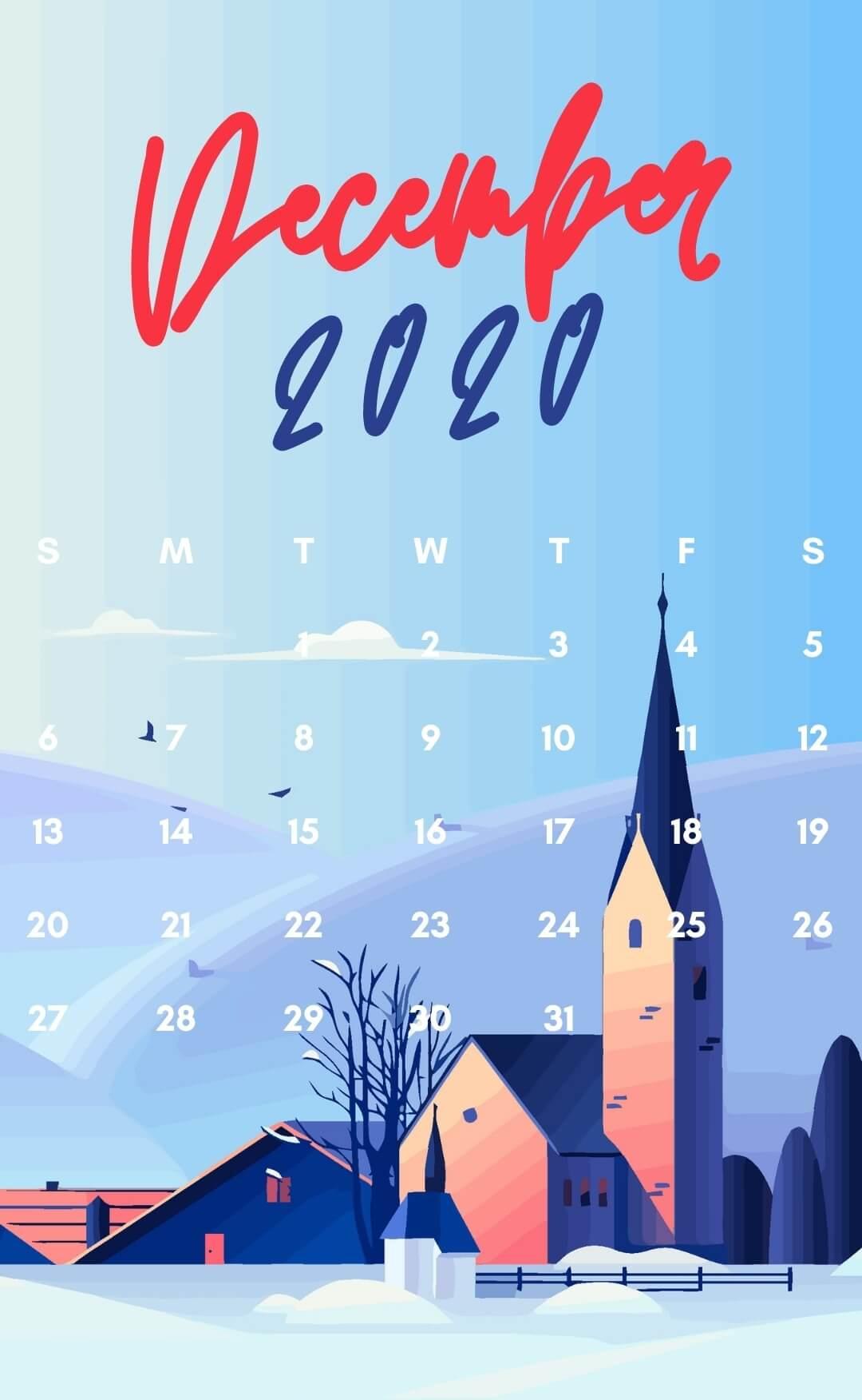 December 2020 Calendar Wallpaper For Mobile Phone